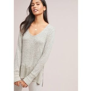 [Anthropologie] COA Hi Lo Brushed Fleece Pullover